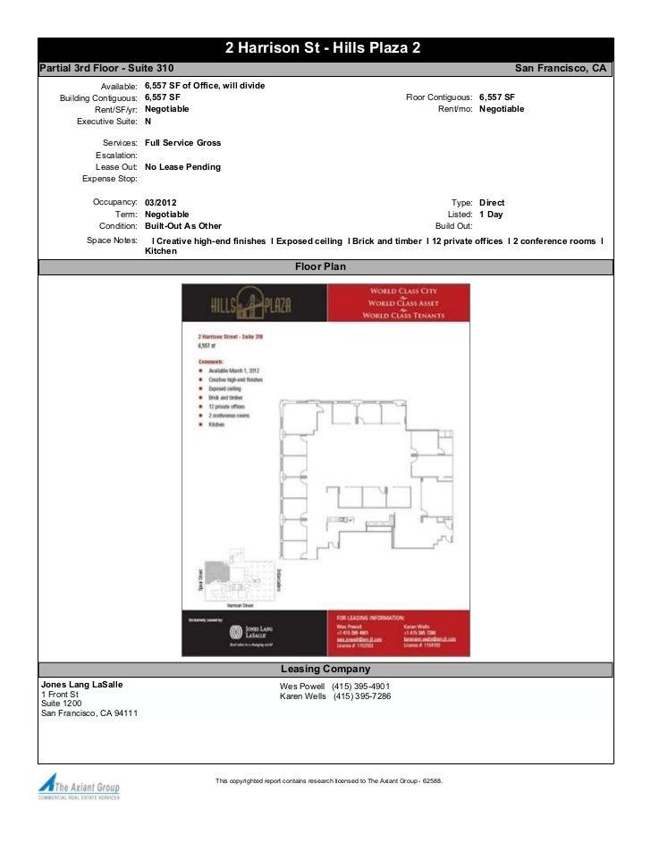 2 Harrison St - Hills Plaza 2Partial 3rd Floor - Suite 310                                                                ...