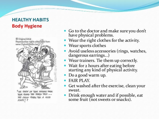 Healthy Amp Unhealthy Habits In Your Life In Ppt 2nd Term