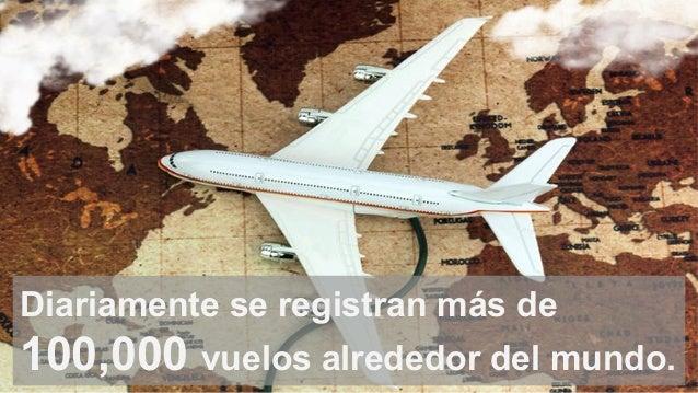 Diariamente se registran más de 100,000 vuelos alrededor del mundo.