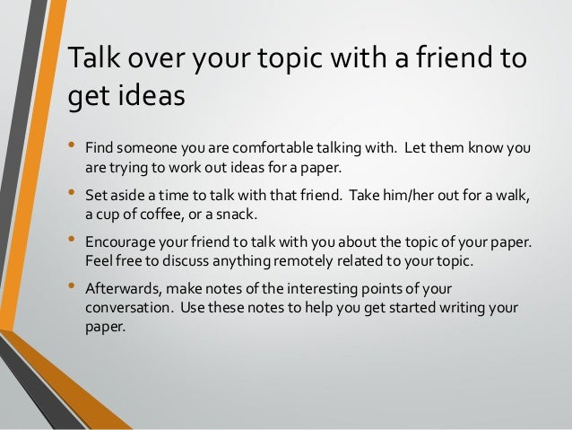 topic ideas to talk about