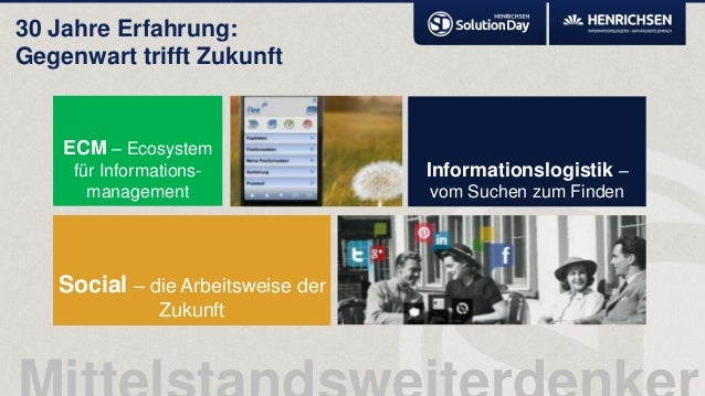 30 Jahre Erfahrung:Gegenwart trifft ZukunftECM – Ecosystemfür Informations-managementSocial – die Arbeitsweise derZukunftI...