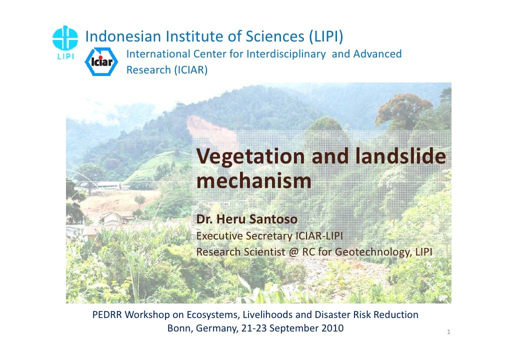 Indonesian Institute of Sciences (LIPI)         International Center for Interdisciplinary and Advanced         Research (...