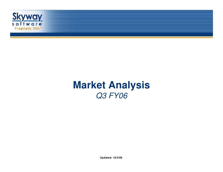 Market Analysis        Q3 FY061        Updated: 10/2/06