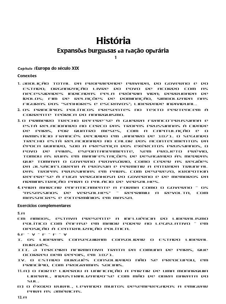 História                   Expansões burguesas ea reação operária                                      1Capítulo 1Europa d...