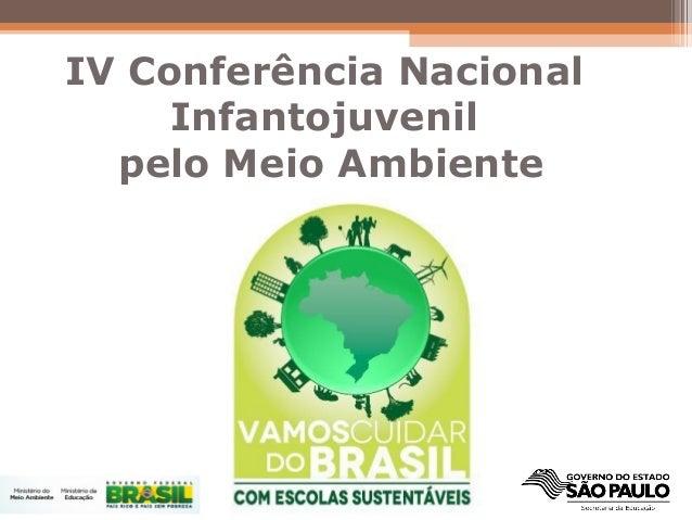 IV Conferência NacionalInfantojuvenilpelo Meio Ambiente