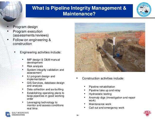 J and j pipeline maintenance manual