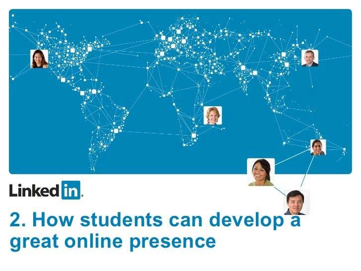 2. How students can develop a great online presence