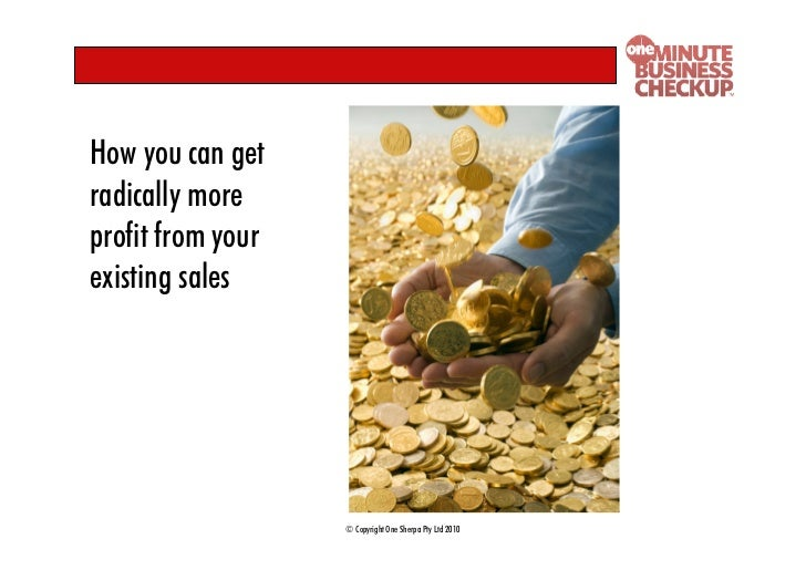 How you can get radically more profit from your existing sales                        © Copyright One Sherpa Pty Ltd 2010