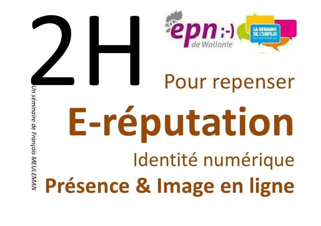 Pour repenserUn séminaire de François MEULEMAN                                      E-réputation                          ...