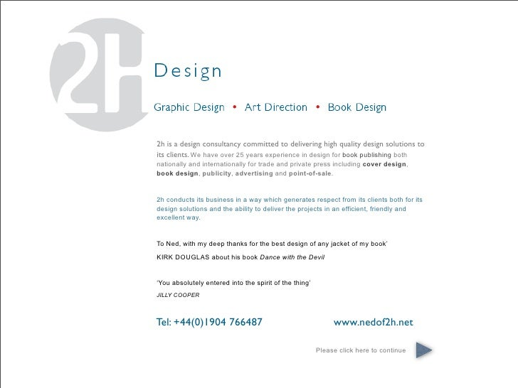2h is a design consultancy committed to delivering high quality design solutions to its clients. We have over 25 years exp...
