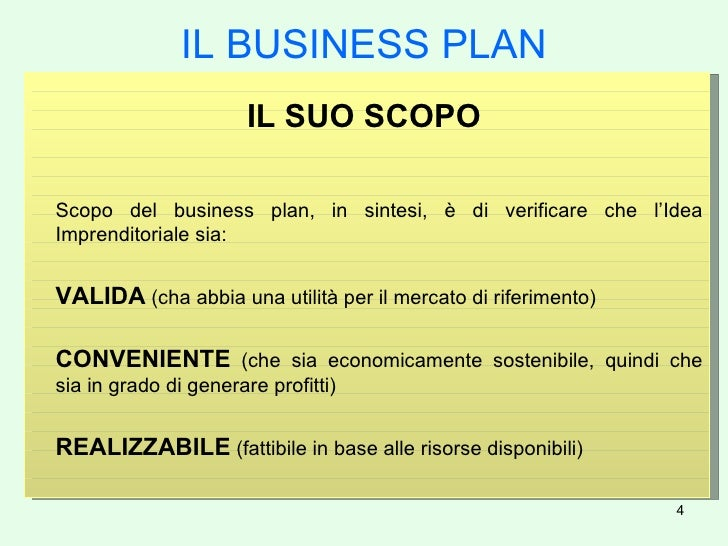 Modello Di Business Plan Gratis