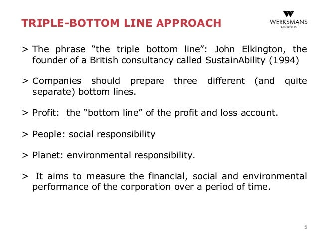 triple bottom line theory essay These are not constrained by strict economic theory for measuring changes in social welfare 9 researchers  the triple bottom line concept developed by john .
