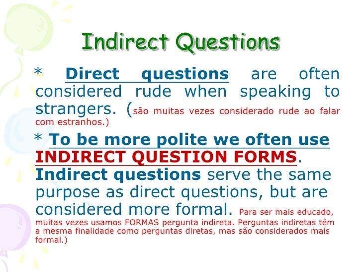 2ª indirect questions