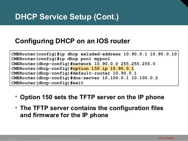 2 ipt configuring cisco cme for Cisco show pool dhcp