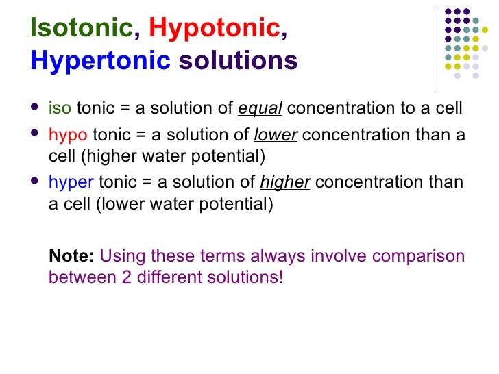 Chapter 3 Movement of Substances Lesson 2 - Effects of isotonic, hypo…