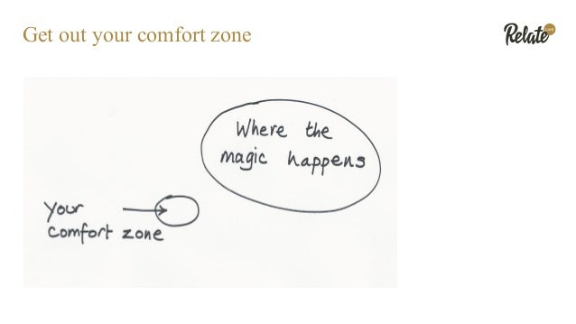 Get out your comfort zone