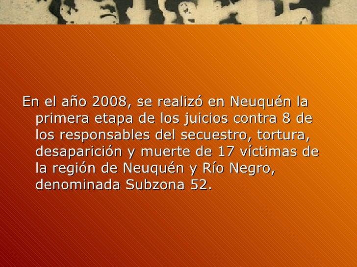 2 juicios contra la represión ilegal en rio negro y neuquén Slide 2