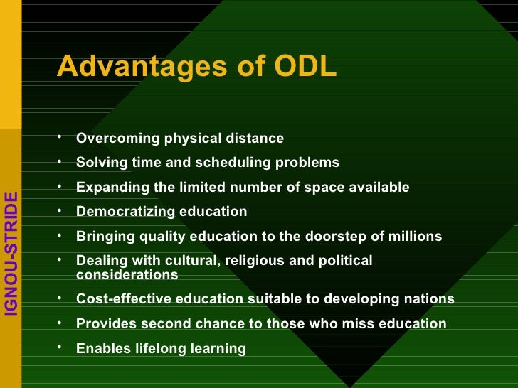 critical issues in open and distance learning