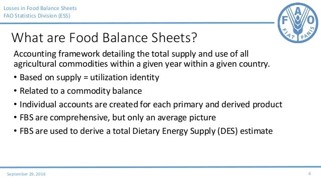 losses in food balance sheets current status imputation and sdg 12