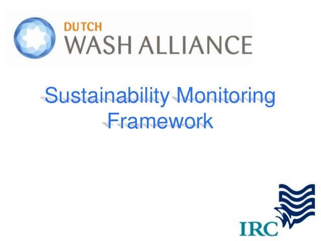 Sustainability Monitoring Framework    Sustainability Monitoring          Framework1