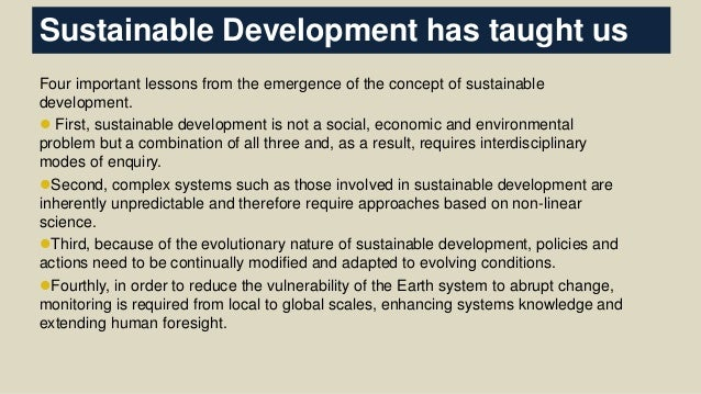 why is sustainable development important pdf