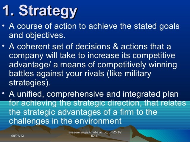 """key concepts in strategic management The two key parts of strategic management are strategic planning and strategy   he introduced the concept of """"creative destruction"""" whose."""
