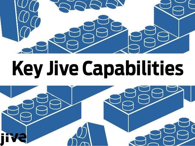 Key Jive Capabilities