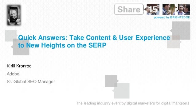 BrightEdge Share15 - CM206: Content Measurement Metrics ...