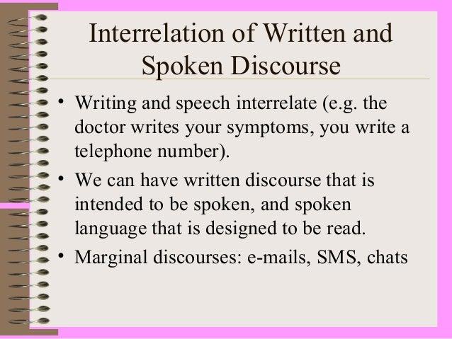 types of spoken discourse