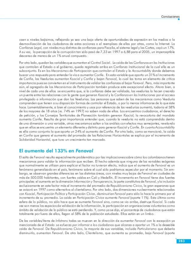 La evolución del capital social en Colombia 1997-2005