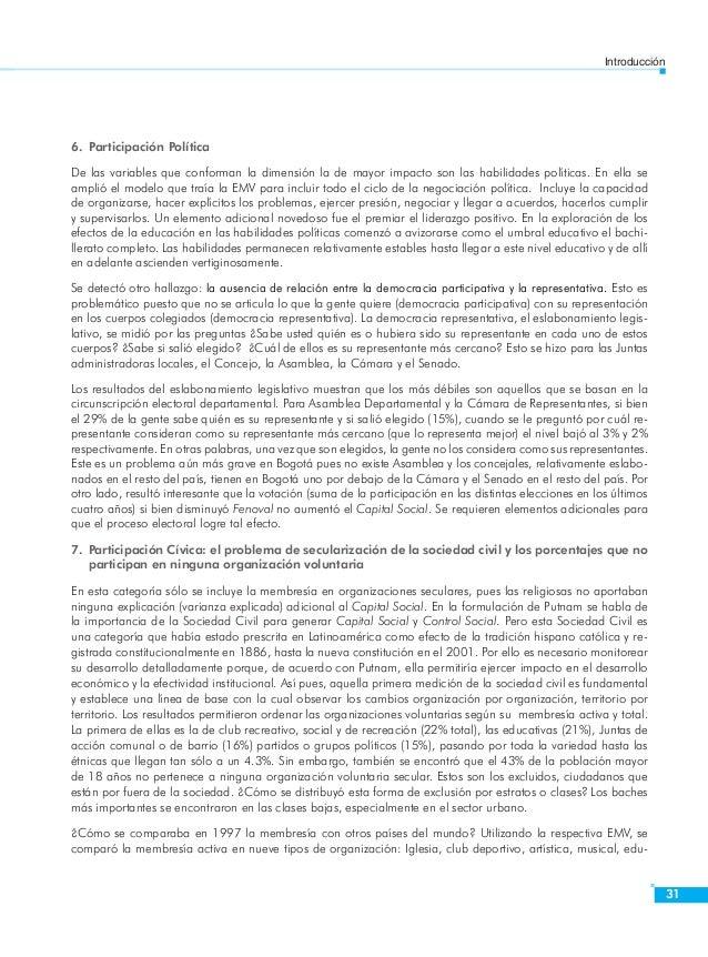 Introducción  33  De esta dimensión, la solidaridad horizontal tuvo impacto directo en Capital Social, cuando las demás so...