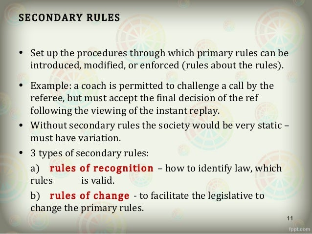 hla hart primary and secondary rules