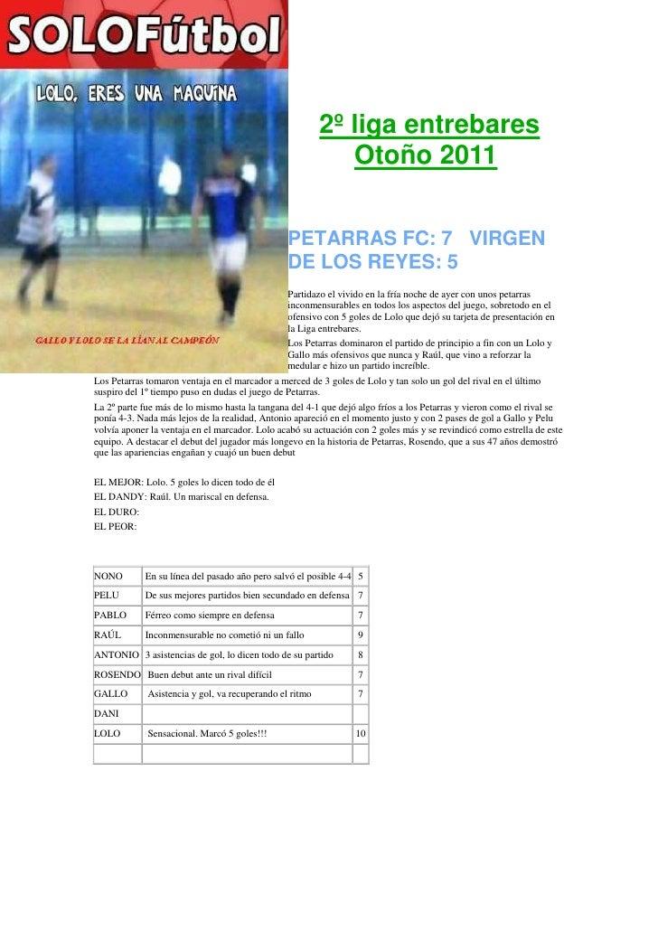 2º liga entrebares                                                            Otoño 2011                                  ...
