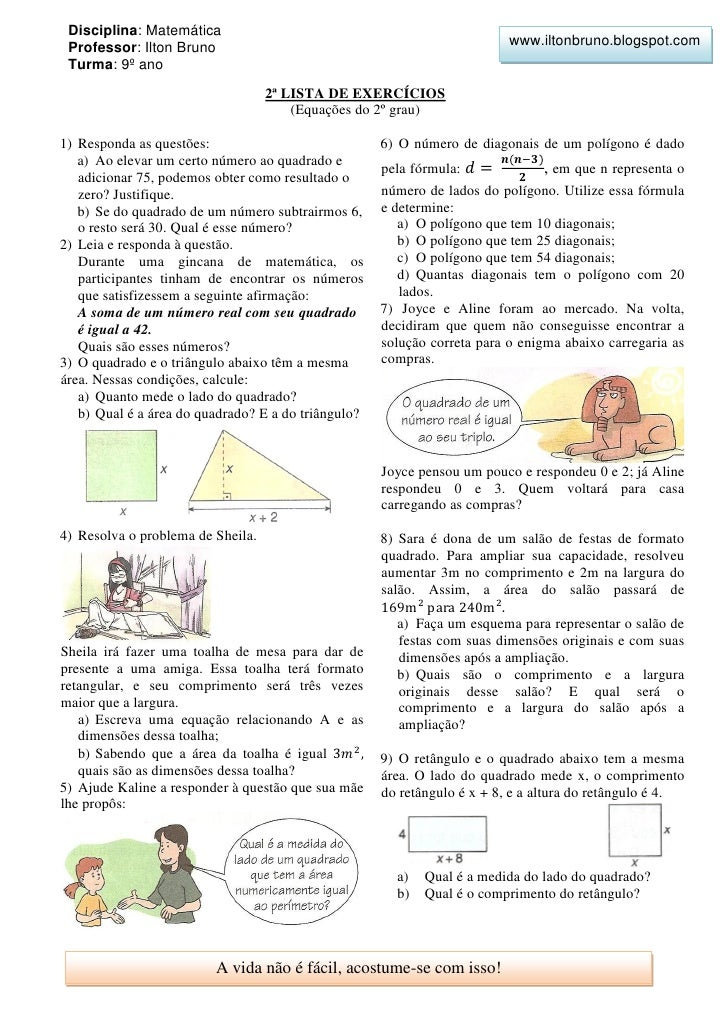 Disciplina: Matemática                                                                          www.iltonbruno.blogspot.co...