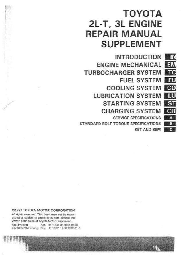 2lt 3l supplement rh slideshare net Toyota Parts Toyota Engine Diagram