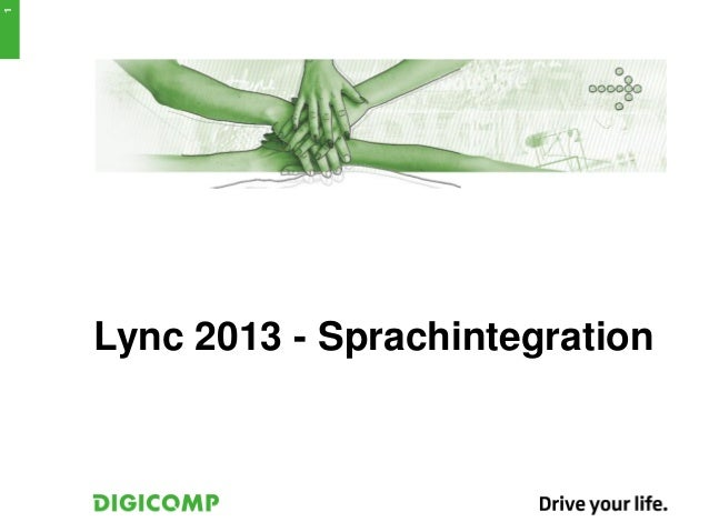Lync 2013 - Sprachintegration1