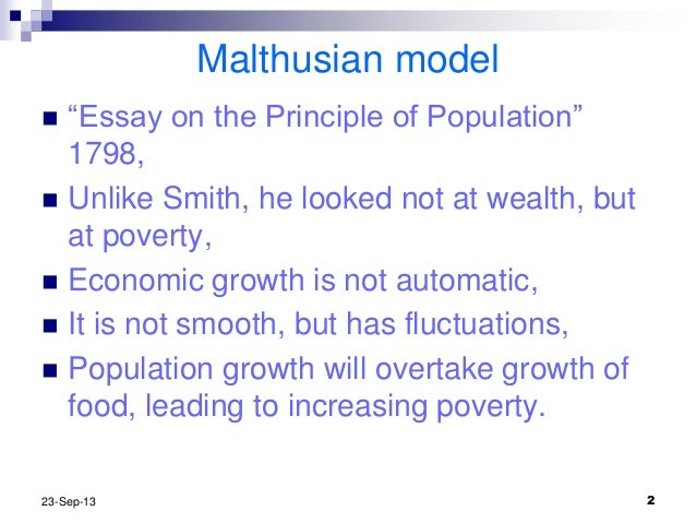 Malthusian Theory Of Growth