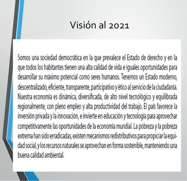 Visión al 2021