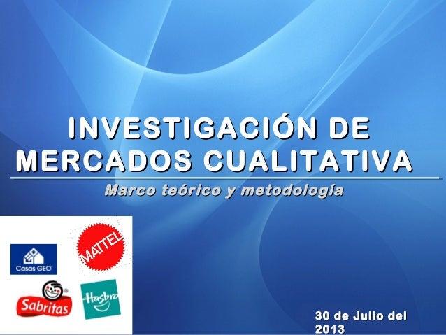 L.A.M. Oscar Alfonso Gómez Meza MKT MarketingMKT Marketing Marco teórico y metodologíaMarco teórico y metodología 30 de Ju...