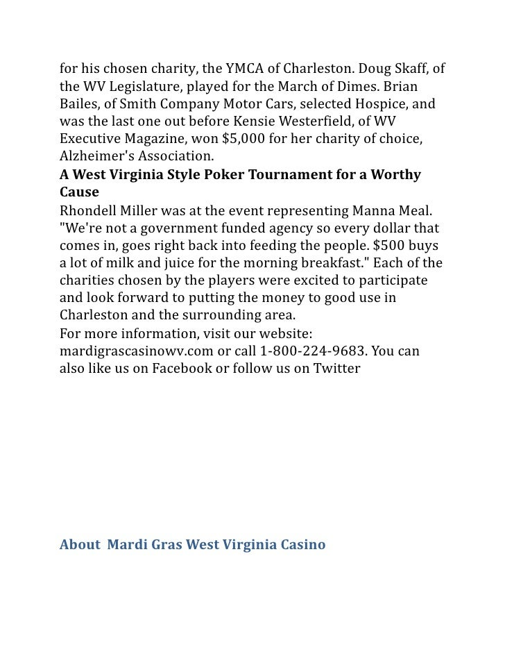 Mardi gras poker night supports charleson wv charity events for Smith motor cars charleston wv