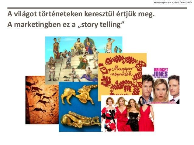 """Marketingkutatás – Károli / Kun Miklós A világot történeteken keresztül értjük meg. A marketingben ez a """"story telling"""""""