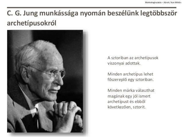 Marketingkutatás – Károli / Kun Miklós C. G. Jung munkássága nyomán beszélünk legtöbbször archetípusokról A sztoriban az a...