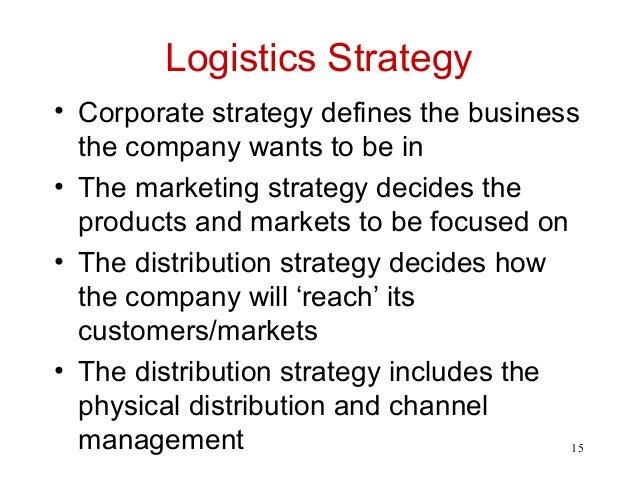 market logistics & scm