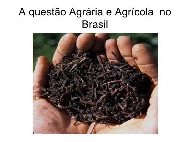 A questão Agrária e Agrícola  no Brasil