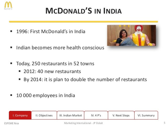 objective of mcdonalds in india Objectives, scope and limitations of the research 31 objectives of the research: east india, samples selected.