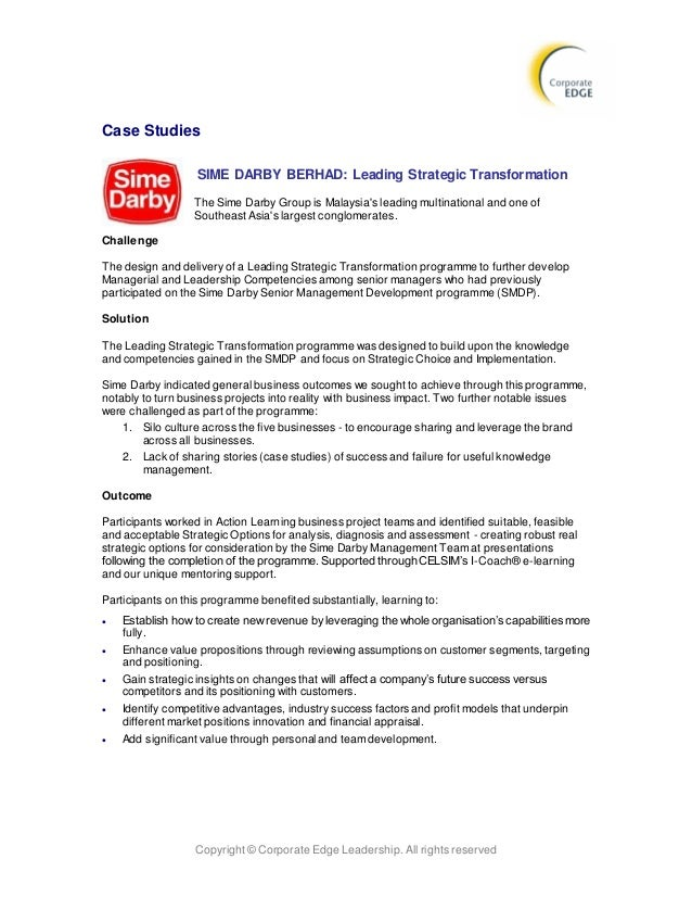 swot analysis for sime darby View sime darby berhad (swot analysis) from finance 242 at universiti teknologi mara sime darby berhad his swot analysis contains 59 data points strengths -high growth rate -existing distribution.