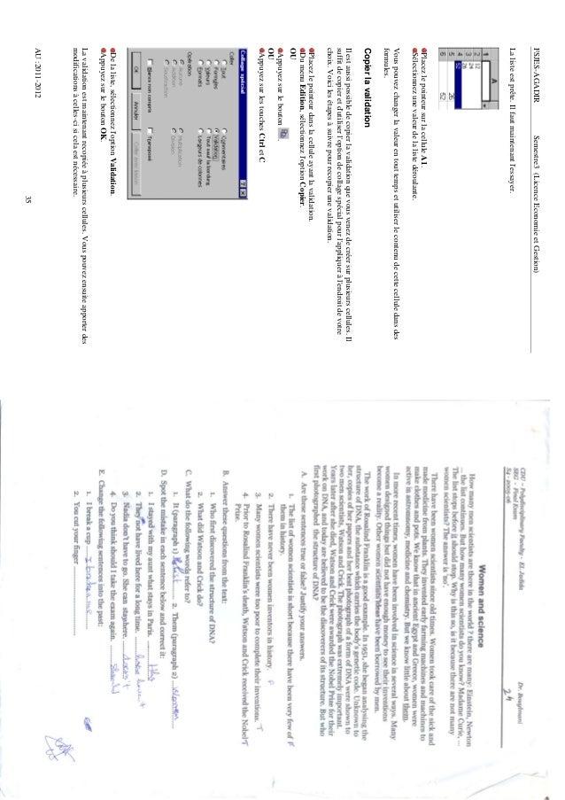 FSJES-AGADIR                 Semestre3 (Licence Economie et Gestion)La liste est prête. Il faut maintenant lessayer. Place...