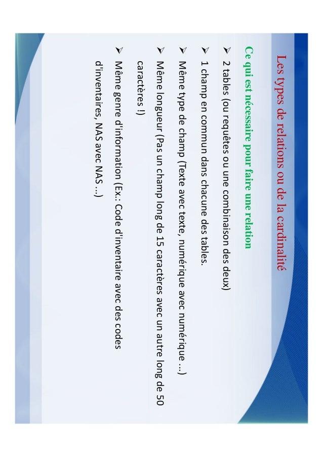 Les requêtesUne requête permet de poser une question sur les données stockées dans les tables      ou d'accomplir une acti...