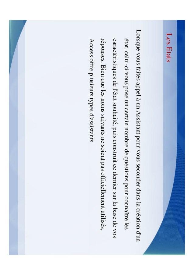 Les Etats3.   Assistant Publipostage: Assistant Etat qui sert à créer des étiquettes de     publipostage.4.   Assistant Gr...