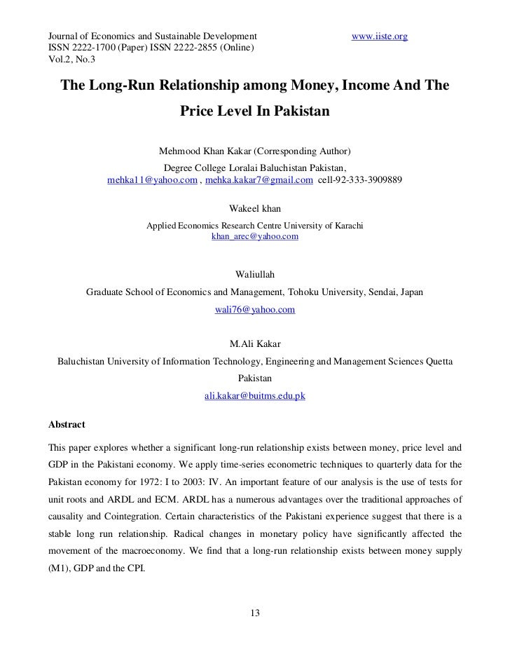 Journal of Economics and Sustainable Development                            www.iiste.orgISSN 2222-1700 (Paper) ISSN 2222-...